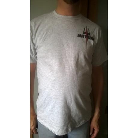 T-shirt NATION gris (trident)