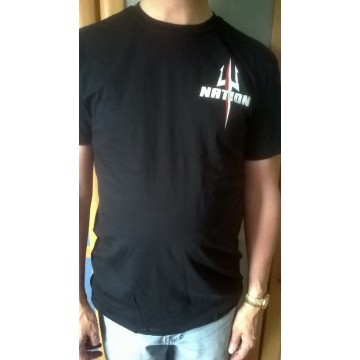 T-shirt NATION noir (trident)