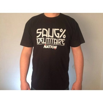 T-shirt noir 100 % identitaire