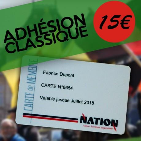 Adhésion CLASSIQUE